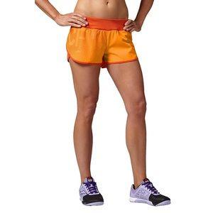 Reebok CrossFit Orange Knit Lined Shorts M